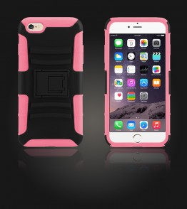 Rugged Hybrid Case Belt Clip Holster iphone 6 Plus/6S Plus - Hot Pink
