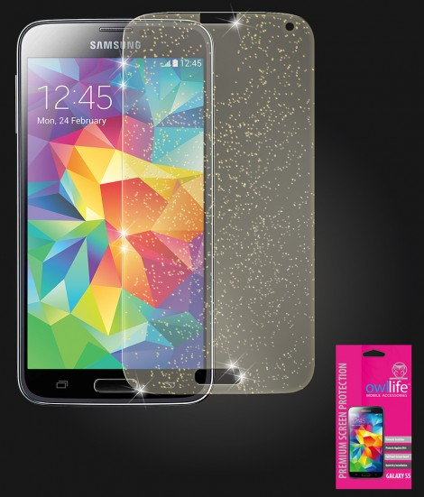 owllife Premium Screen Protector Galaxy S5 Sparkle