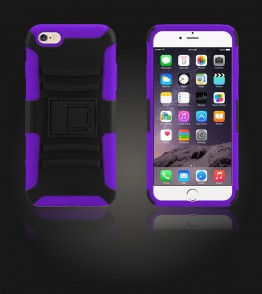 Rugged Hybrid Case Belt Clip Holster iphone 6 Plus/6S Plus - Purple