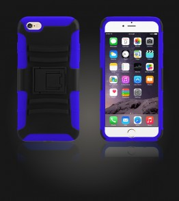 Rugged Hybrid Case Belt Clip Holster iphone 6 Plus/6S Plus - Blue