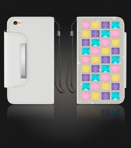 Diamond Wallet iphone 6 Plus/6S Plus - White