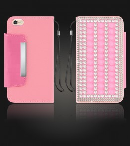 Diamond Wallet iphone 6 Plus/6S Plus - Pink