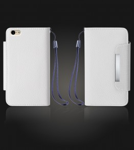 Lychee PU leather wallet iPhone 6 Plus/6S Plus - White