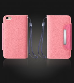 Lychee PU leather wallet iPhone 6 Plus/6S Plus - Pink
