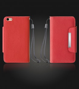 Lychee PU leather wallet iPhone 6 Plus/6S Plus - Red