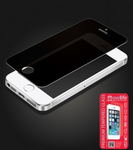 owllife Premium Tempered Glass Privacy iphone 5/5S/SE