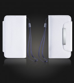 Detachable Lychee PU wallet iPhone 5C - White