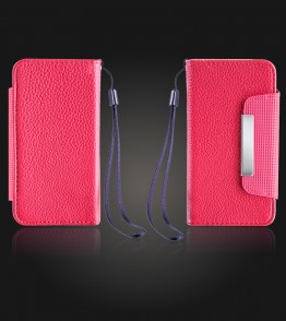 Detachable Lychee PU wallet iPhone 5C - Red