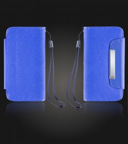 Detachable Lychee PU wallet iPhone 5C - Blue