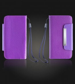 Detachable Lychee PU wallet iPhone 5/5S/SE - Purple