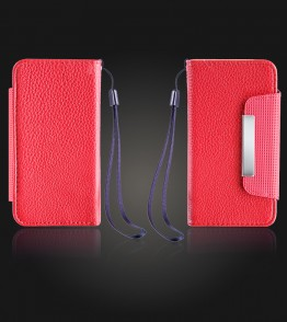 Detachable Lychee PU wallet iPhone 7 - Red