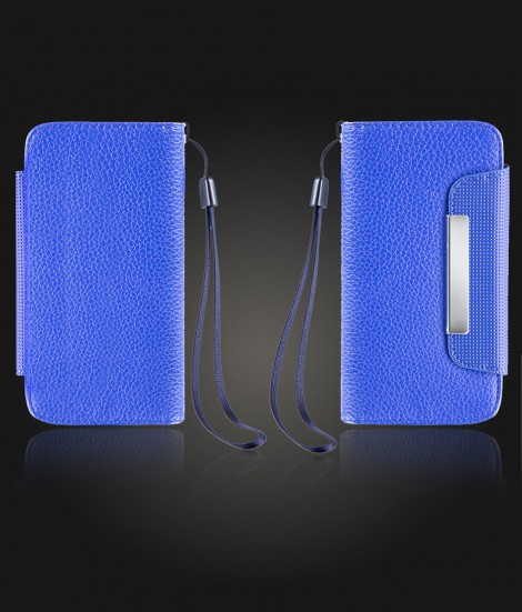 Detachable Lychee PU wallet iPhone 7 - Blue