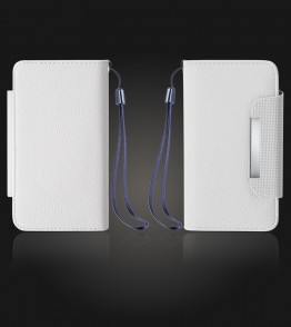 Detachable Lychee PU wallet iPhone 7 Plus - White