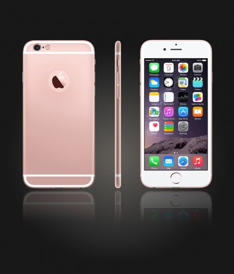 Glass Design iphone 6/6S - Rose Gold