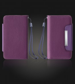 Detachable Lychee PU wallet iPhone 7 Plus - Purple