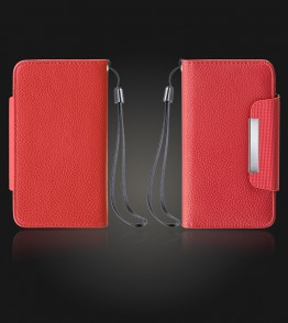 Detachable Lychee PU wallet iPhone 7 Plus - Red