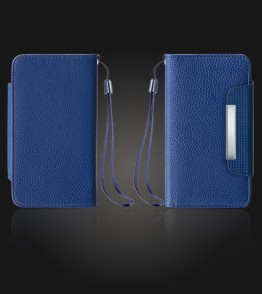 Detachable Lychee PU wallet iPhone 7 Plus - Blue
