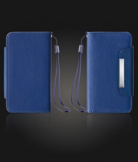 Detachable Lychee PU wallet iPhone 7 Plus - Blue