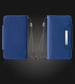Detachable Lychee PU wallet Galaxy Note 4 - Blue