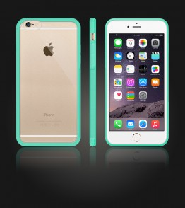 Matt Gummy Case iphone 6 Plus/6S Plus - Mint