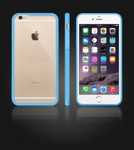 Matt Gummy Case iphone 6 Plus/6S Plus - Light Blue
