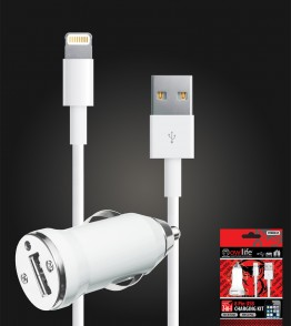 8 Pin USB Car charging kit
