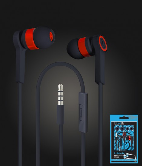 i-blast headset with mic 3.5mm - Black