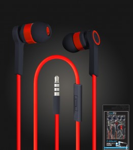 i-blast headset with mic 3.5mm - Red