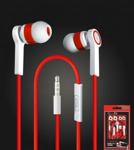 i-blast headset with mic 3.5mm - Red/White