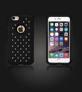SiliTough diamond case iPhone 6/6S - Black