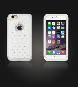 SiliTough diamond case iPhone 6/6S - White