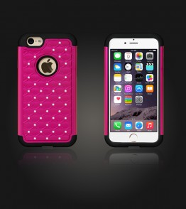 SiliTough diamond case iPhone 6/6S - Hot Pink
