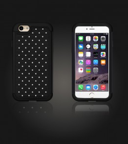 SiliTough diamond case iPhone 6 Plus/6S Plus - Black