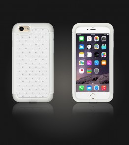 SiliTough diamond case iPhone 6 Plus/6S Plus - White