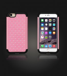 SiliTough diamond case iPhone 6 Plus/6S Plus - Pink