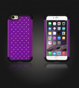 SiliTough diamond case iPhone 6 Plus/6S Plus - Purple
