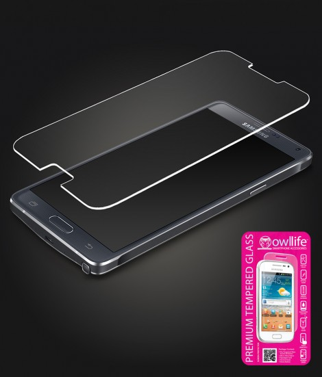 owllife Premium Tempered Glass Galaxy Note 4