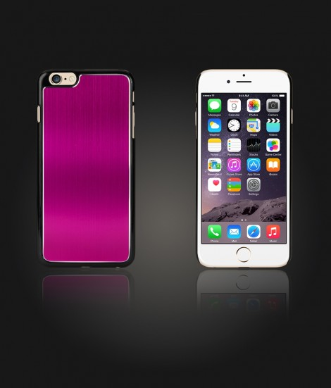 Chrom Back Slim Case iphone 6/6S - Hot Pink