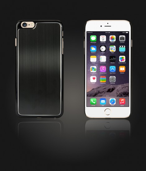 Chrom Back Slim Case iphone 6 Plus/6S Plus - Black