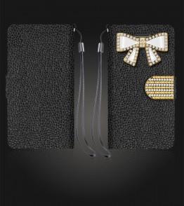 Diamond Bow Wallet iphone 6/6S - Black