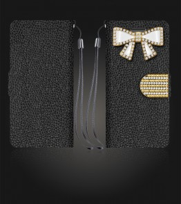 Diamond Bow Wallet iphone 6 Plus/6S Plus - Black