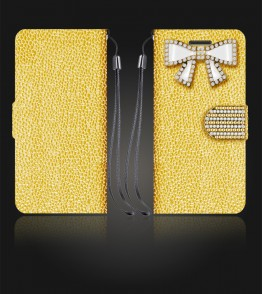 Diamond Bow Wallet iphone 6 Plus/6S Plus - Gold