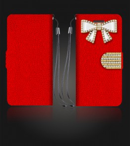 Diamond Bow Wallet iphone 6 Plus/6S Plus - Red
