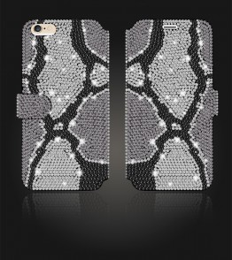 Crystal Diamante Wallets iPhone 6/6S - Black
