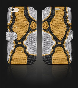 Crystal Diamante Wallets iPhone 6/6S - White