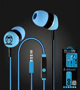 Owllife i-Blast Premium Headset - Light Blue