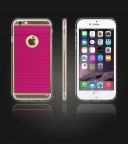 Gold TPU Case iPhone 6/6S - Hot Pink