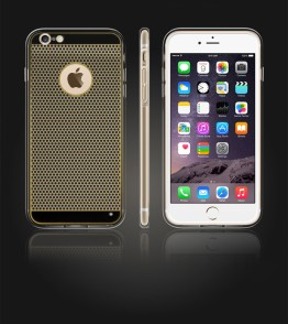Gold TPU Case iPhone 6 Plus/6S Plus - Black