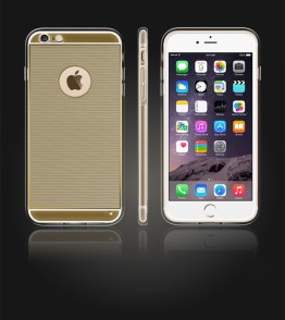 Gold TPU Case iPhone 6 Plus/6S Plus - Gold