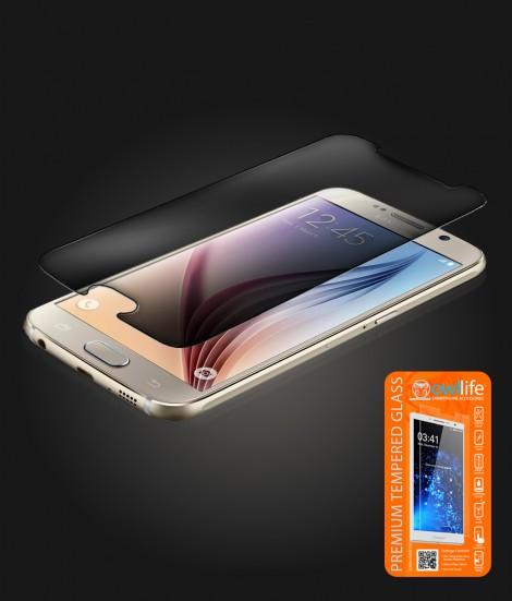 owllife Premium Tempered Glass privacy Galaxy S6